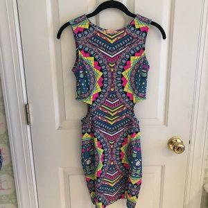 Mara Hoffman Kites Modal Cutout Mini Dress
